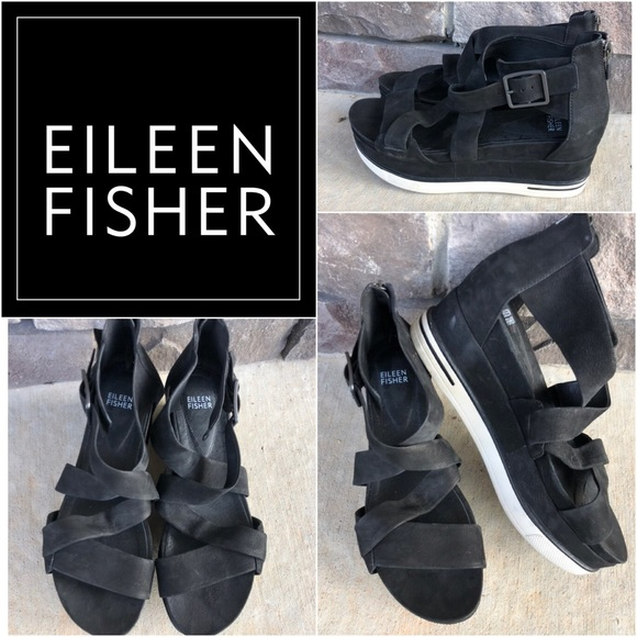 Eileen Fisher Shoes - Eileen Fisher Leather Sneaker Sandals Rtl:$195